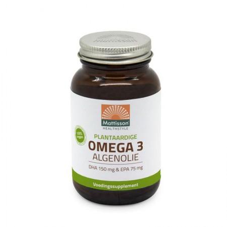Omega 3 algenolie (60 / 120 caps - Mattisson)