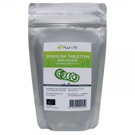 Spirulina tabletten, bio (250g - Puur&Fit)