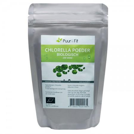 Chlorella poeder, bio (250g - Puur&Fit)