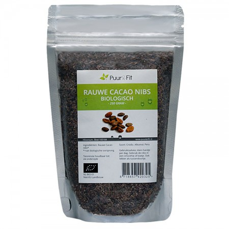Rauwe Cacao Nibs, bio (250g - Puur&Fit)