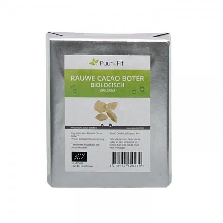 Cacao boter, bio (500g - Puur&Fit)