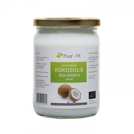 Kokosolie, virgin bio (500ml - Puur&Fit)