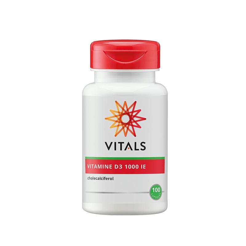 Vitamine D3 1000ie capsules (100st - Vitals)