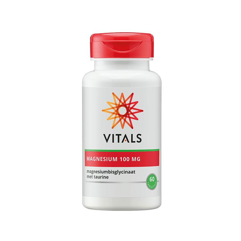Magnesium(bisglycinaat) 100 mg (60 tabs - Vitals)