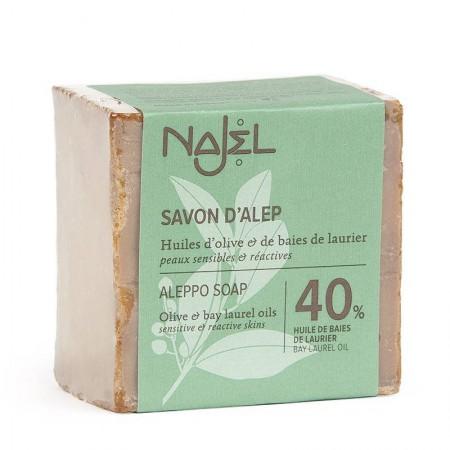 Aleppo zeep 40% (200g - Najel)