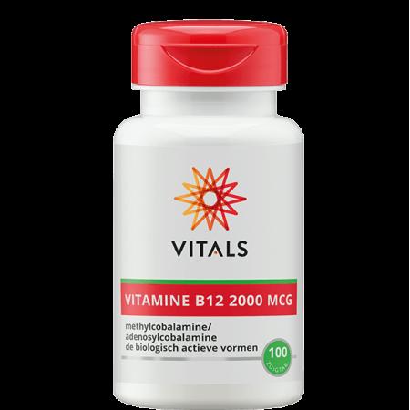 Vitals vitamine B12 2000 MCG zuigtabletten