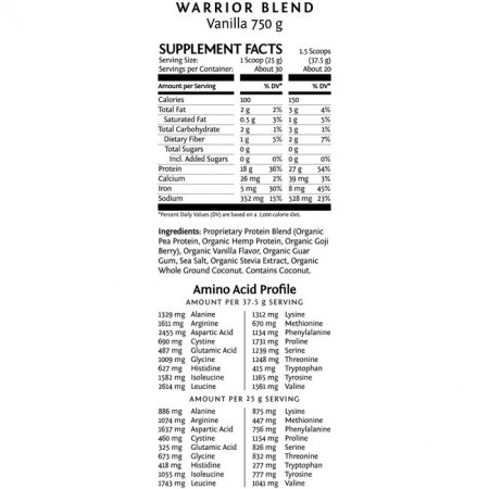 Sunwarrior Proteine Blend Vanille (opties)