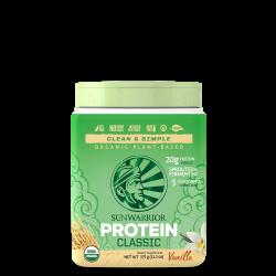 Sunwarrior Classic Protein Vanille 375 gram etiket