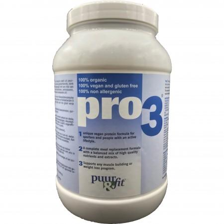 Pro3 bio vegan proteïne (750g - Puur&Fit)