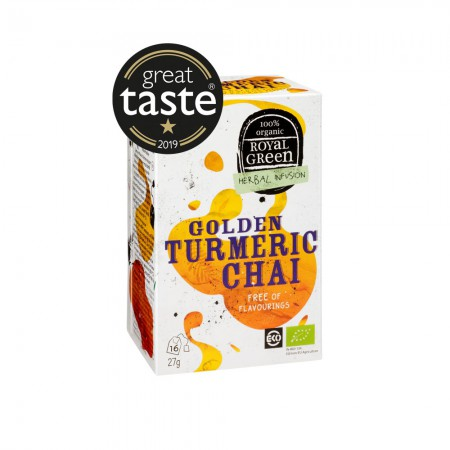 Royal Green Golden Turmeric Chai Thee (16 zakjes)