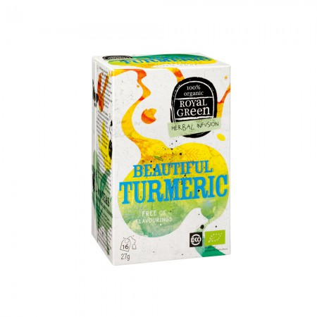 Royal Green Beautiful Turmeric Thee (16 zakjes)