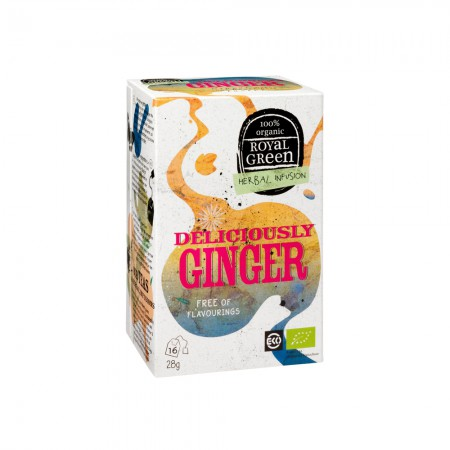 Royal Green Deliciously Ginger Thee (16 zakjes)