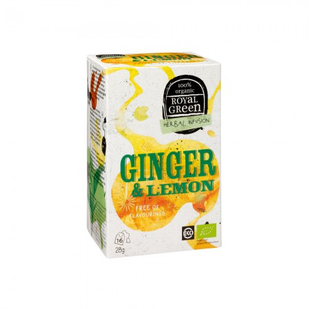 Royal Green Ginger & Lemon Thee (16 zakjes)