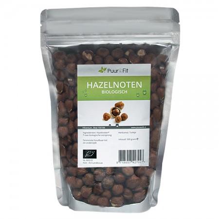 Hazelnoten, bio (500g - Puur&Fit)