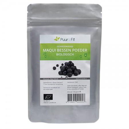 Maqui bessen poeder, bio (125g - Puur&Fit)