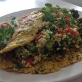 Gierstsalade met kruiden omelet